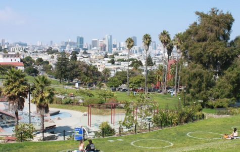 Dolores Park in San Francisco has social distancing circles on the grass, perfect for a fun and safe activity!